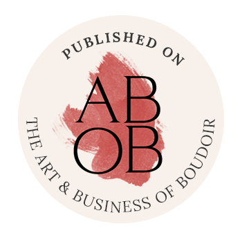 Featured on Art And Business Of Boudoir Badge